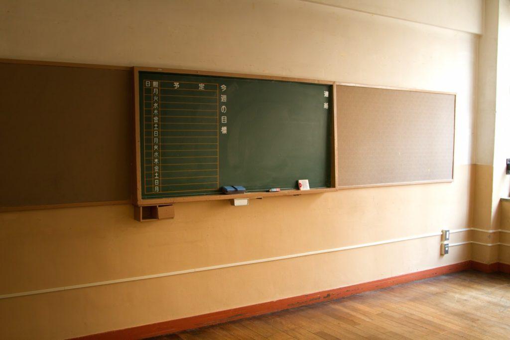 教室の黒板の画像