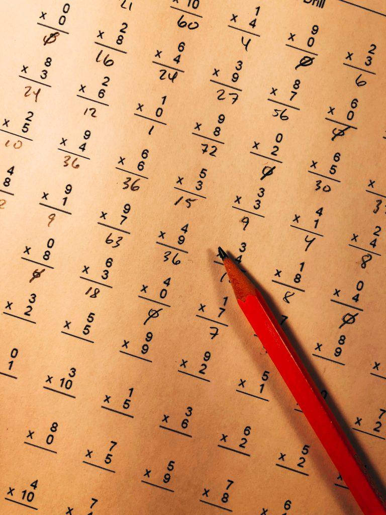 計算プリントの画像