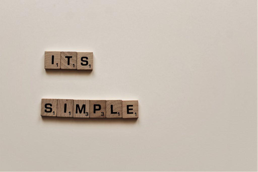 ITS SIMPLEという英単語の書かれた画像