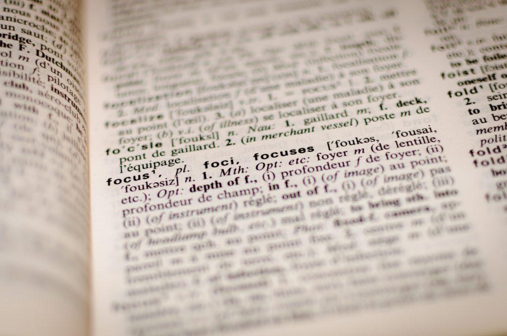 英語の辞書で英単語を検索する画像