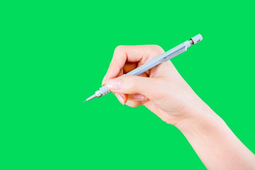 シャーペン持つと痛い理由① シャーペンの持ち方が悪い