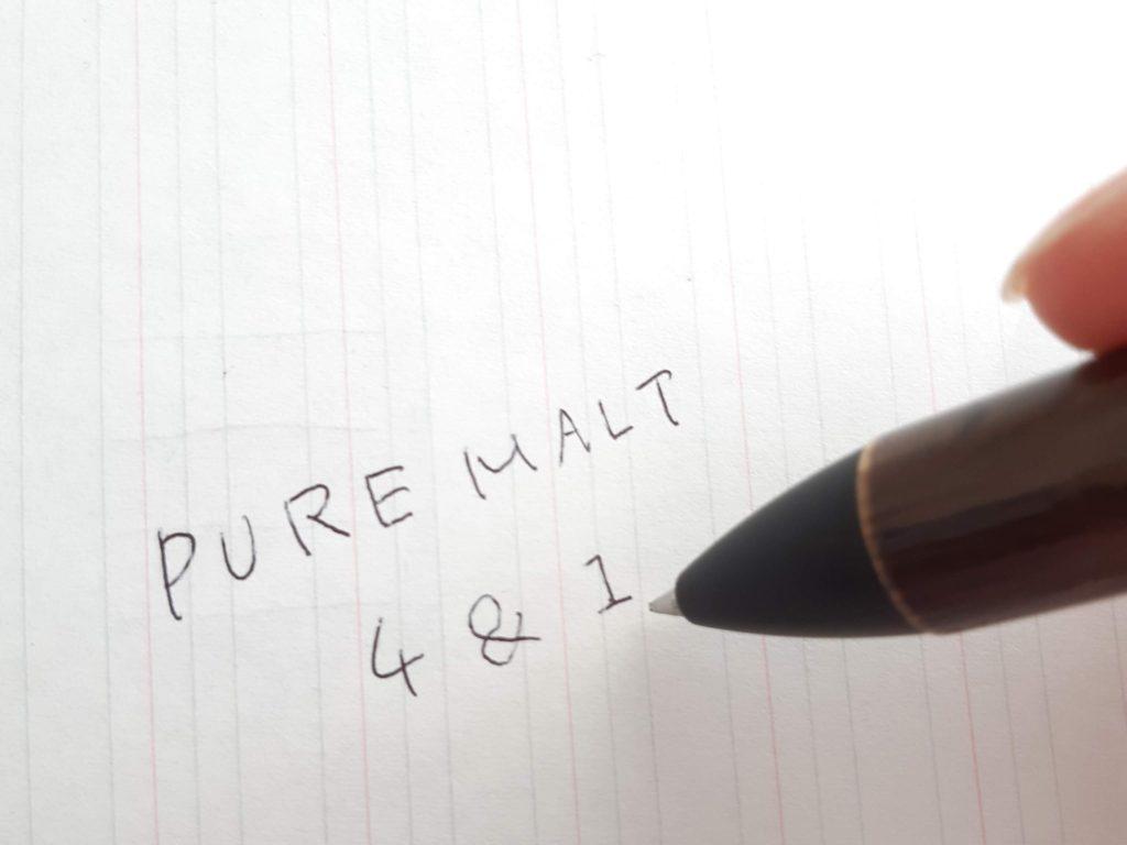 ピュアモルト4&1の人気の理由④滑らかすぎる書き心地